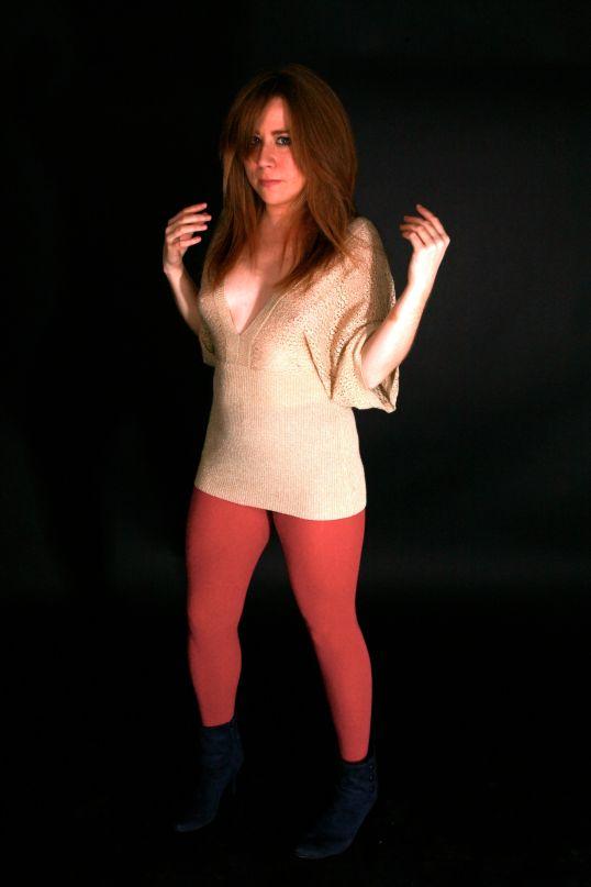 Katie in Red Yoga Pants